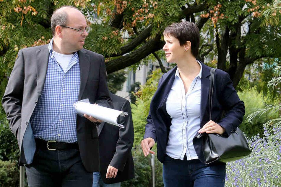 Frauke Petry im Gespräch mit  Morgenpost-Politikredakteur Thomas Schmitt.