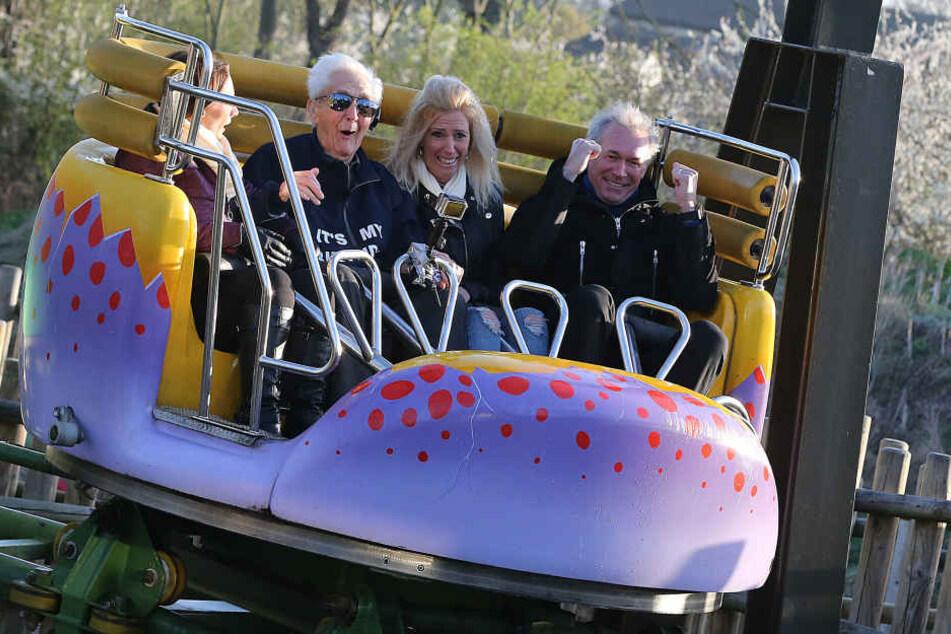 Jack Reynolds feierte seinen 105. Geburtstag mit einer Achterbahnfahrt.