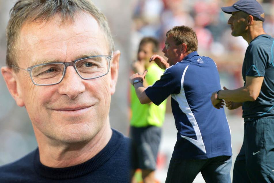Ralf Rangnick (links im Bild) holte Peter Zeidler als Co-Trainer zur TSG 1899 Hoffenheim (rechts im Bild). (Fotomontage)