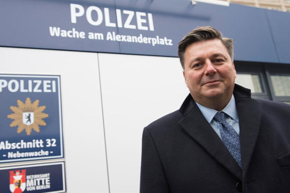 Berlins Innensenator Andreas Geisel findet, dass die Sicherheitslage am Alex besser als ihr Ruf sei.