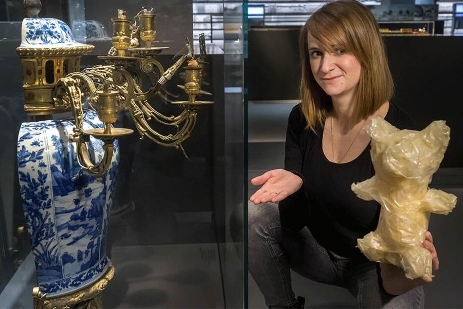 Museumsmitarbeiterin Annelie Blasko (32) präsentiert einige der seltsamsten Stücke aus dem Museumsfundus.