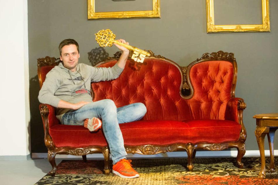 """Alexander Meller (36) von """"exit Sachsen"""" betreibt in Chemnitz zwei Standorte. Einer befindet sich am Brühl, der andere in der Straße der Nationen 12."""