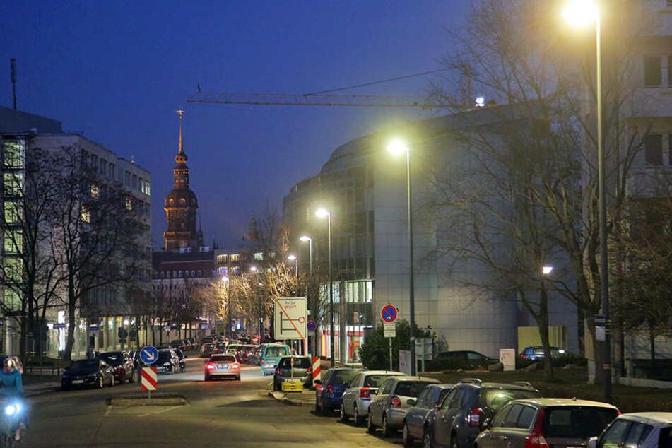 Alle Licht gehen an! Dresden Straßen, wie hier die Annenstraße, leuchten künftig wieder heller.