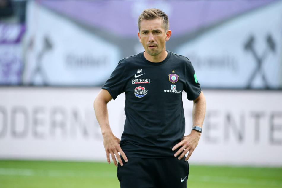 Der mögliche Nachfolger: André Meyer steht ganz oben auf der Wunschliste des CFC. Zwei Monate war er Co-Trainer unter Bruder Daniel beim FC Erzgebirge. Foto: Picture Point/Sven Sonntag