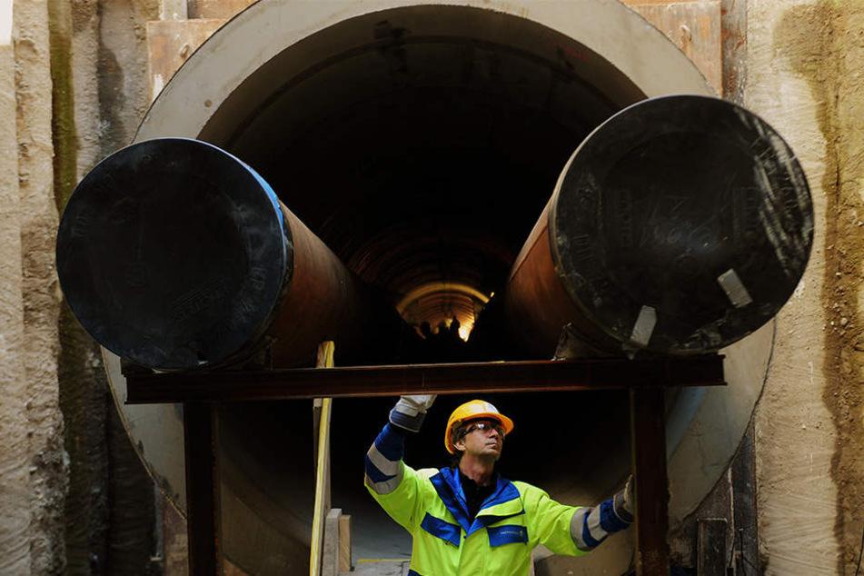 Neue Großbaustelle: Plagwitz bekommt 'ne lange Leitung
