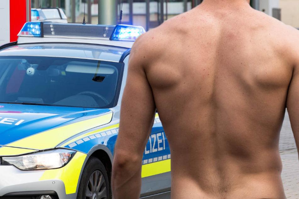 Der nackte Mann wurde von der Polizei aufgegriffen. (Symbolbild).