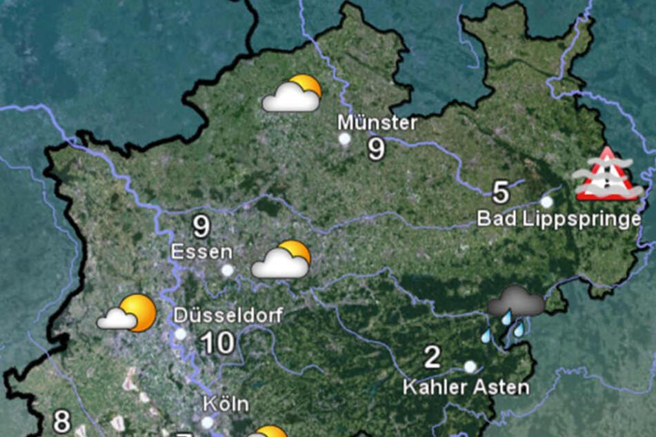Vor allem in OWL soll es laut dem Deutschen Wetterdienst glatt werden.