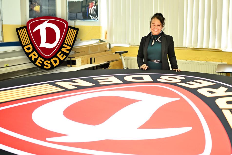 Riesiges Dynamo-Logo flackert im Herz-Rhythmus: Neues Highlight im Rudolf-Harbig-Stadion!