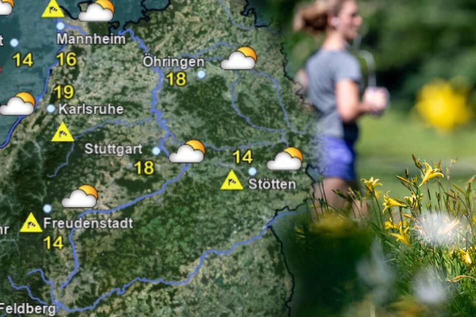 So wird das Wetter in Baden-Württemberg am Sonntagnachmittag. (Fotomontage)