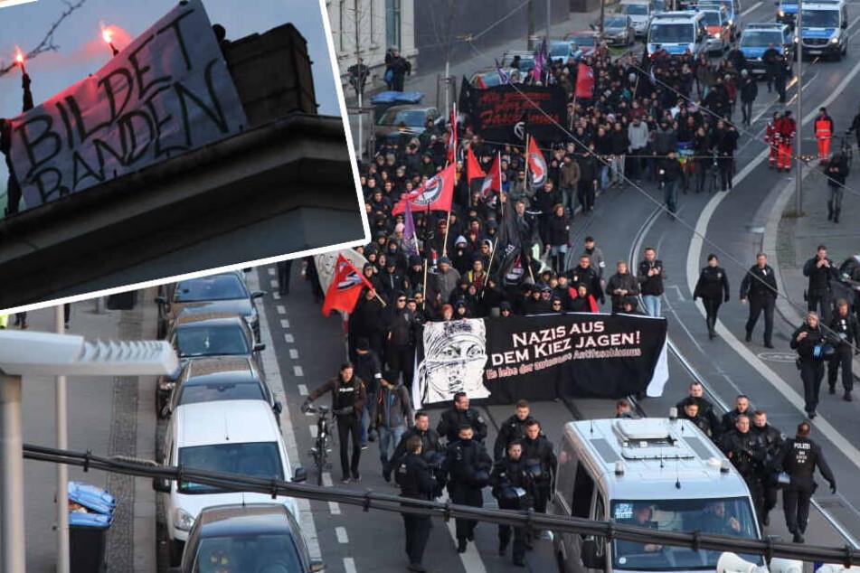 Anti-Nazi-Demo in Leipzig: Polizei ermittelt in zwei Fällen