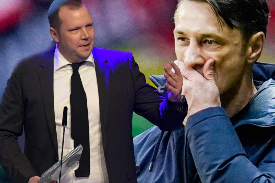 Fotomontage: Sportkommentator Wolff-Christoph Fuss (Li.) äußerte sich auf Twitter ebenfalls zur Entlassung von nun Ex-Bayern-Coach Niko Kovac.