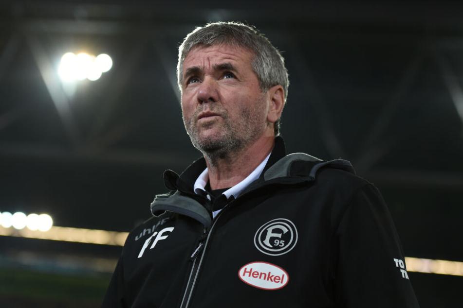 Trainer Friedhelm Funkel (65) kommt am Mittwoch mit Fortuna Düsseldorf zum Benefizspiel ins Leutzscher Holz.