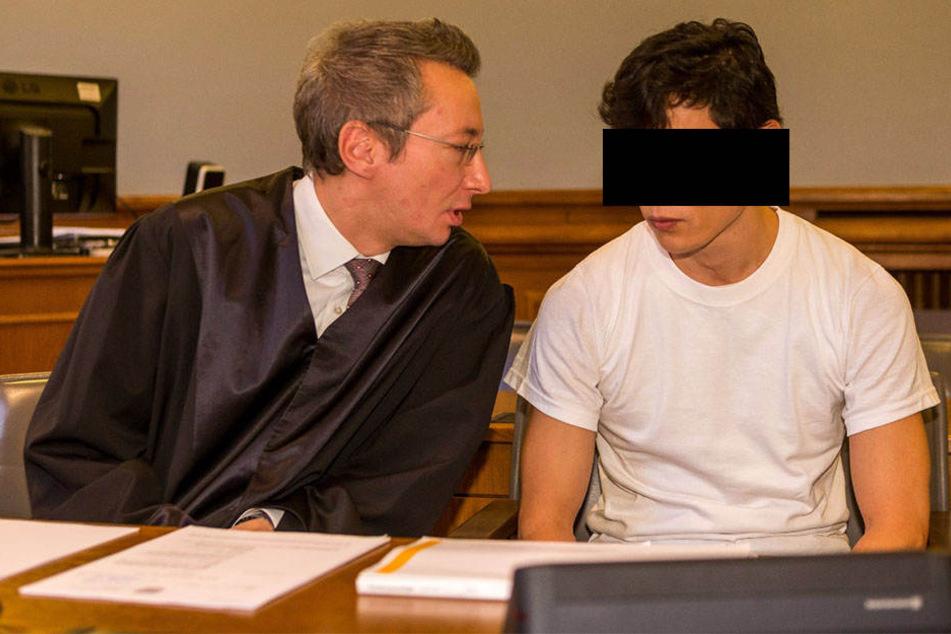 Gab sich zum Prozessauftakt schweigsam: Dovchin D. (38, r.) mit seinem Verteidiger Dr. Stefan Wirth.