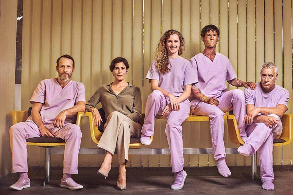 """Der """"Freaks""""-Cast: Wotan Wilke Möhring, Nina Kunzendorf, Cornelia Gröschel, Tim Oliver Schultz und Ralf Herforth (v.l.)."""