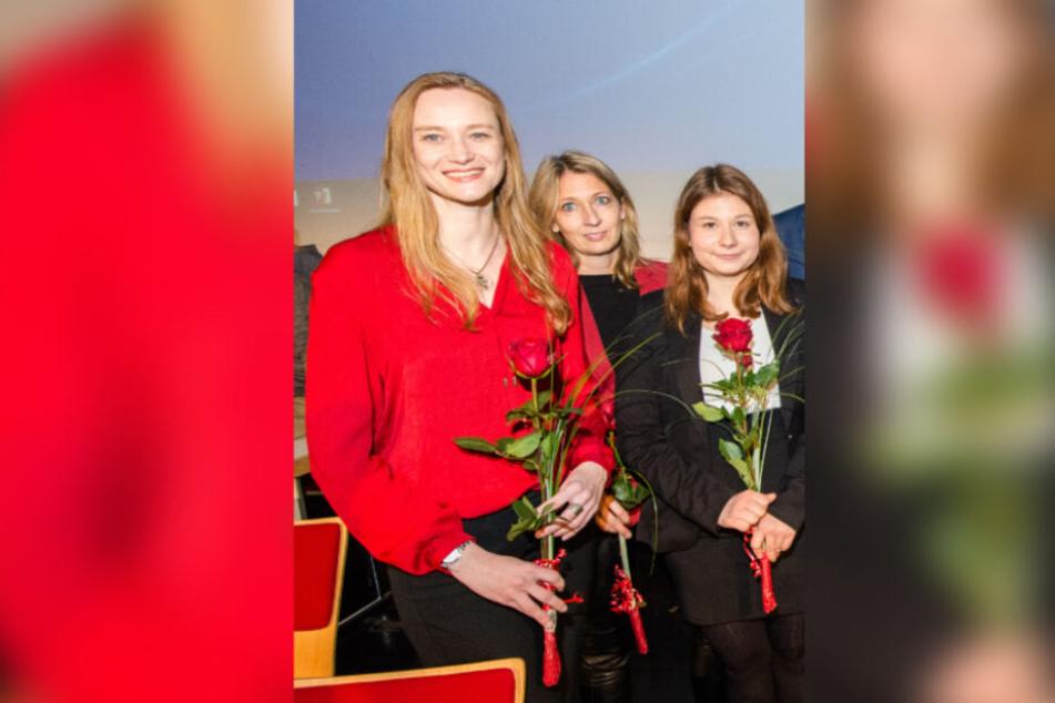 Dorothee Martin (SPD, links) ist seit März 2011 Mitglied der Hamburgischen Bürgerschaft.