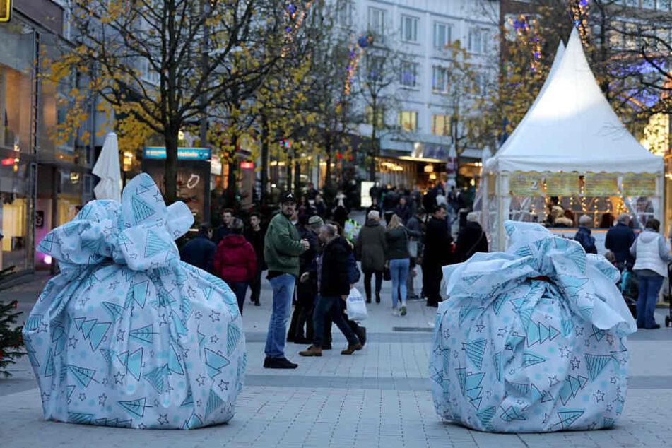 Die verpackten Sand-Hindernisse aus dem vergangenen Jahr wird es in diesem Jahr auf dem Bochumer Weihnachtsmarkt nicht mehr geben.