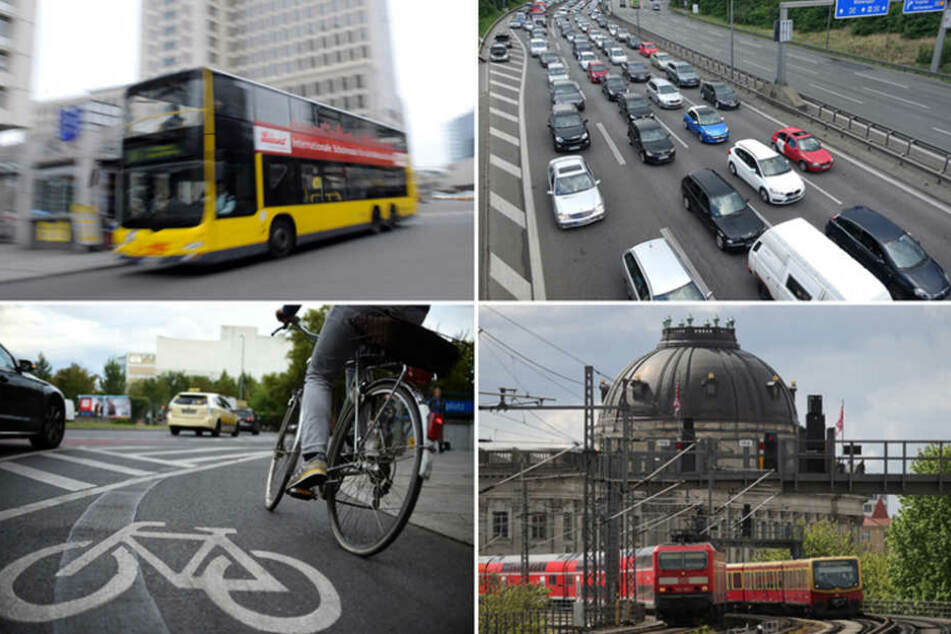 Fahrrad, Auto, Bus oder Bahn - die Mobilität lässt in Berlin noch zu Wünschen übrig.
