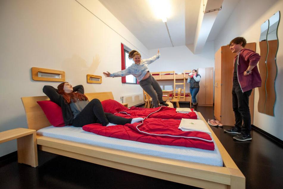 Familie Küchler aus Leipzig besuchte schon mehrfach die Jugendherberge in Chemnitz und ist stets aufs Neue begeistert von dem gastlichen Haus.