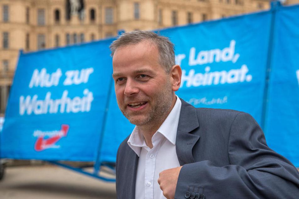Leif-Erik Holm (46) könnte am Sonntag in Meck-Pomm mit seiner AfD die zweitstärkste Partei werden.
