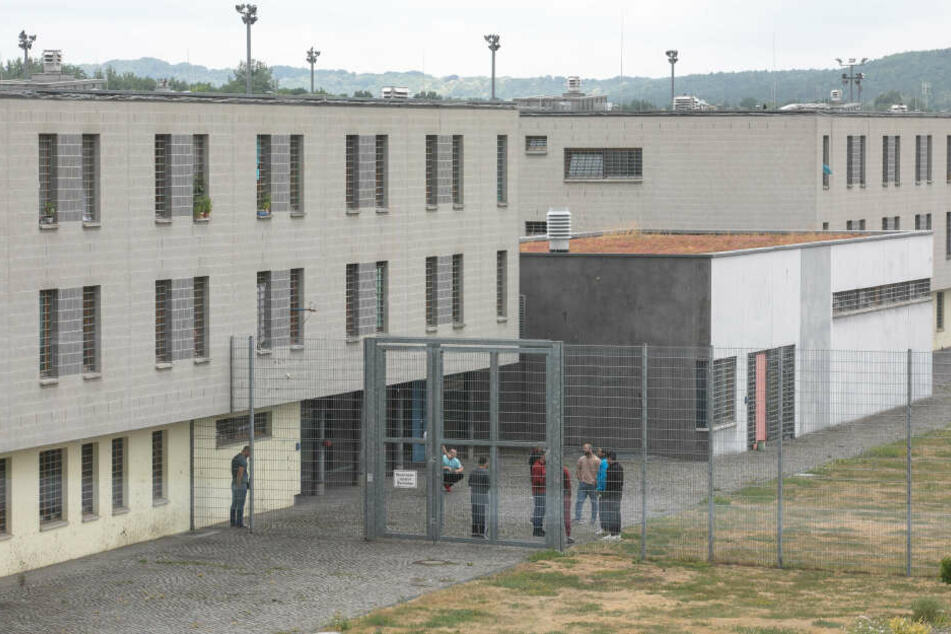 Blick in den Hof des Dresdner Knasts.