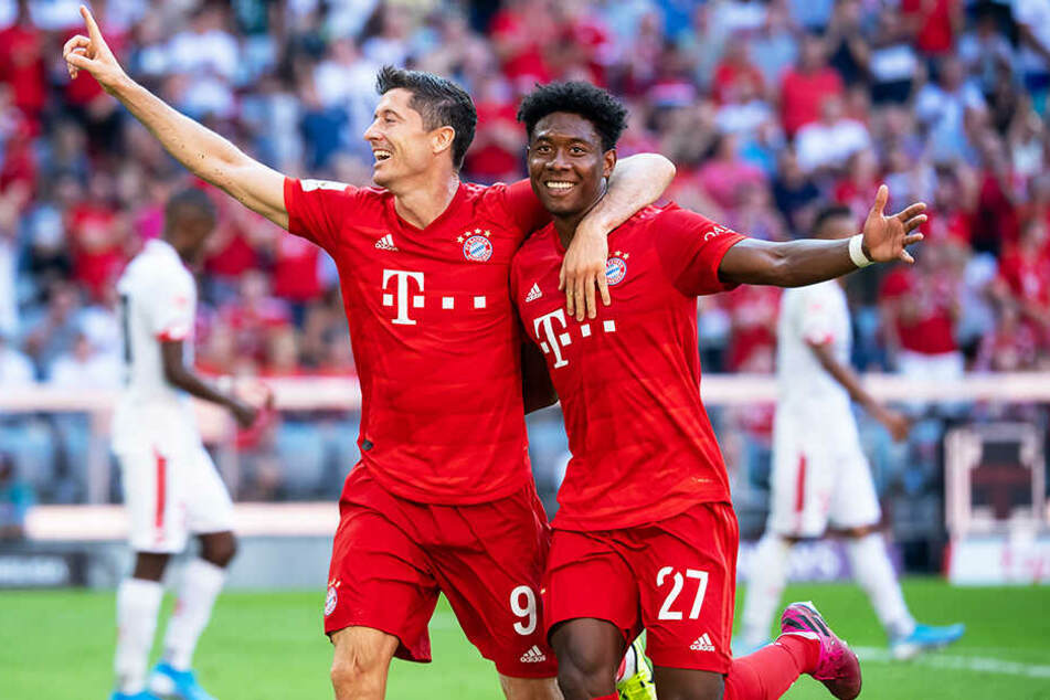 Robert Lewandowski und David Alaba durften mit ihrem FC Bayern München gleich sechs Mal gegen den 1. FSV Mainz 05 jubeln.
