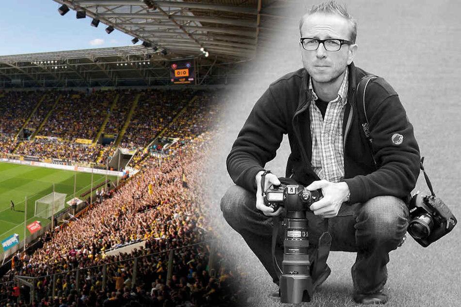 Fotograf Frank Dehlis (✝45) - der  Dynamo-Rasen war sein Arbeitsplatz.