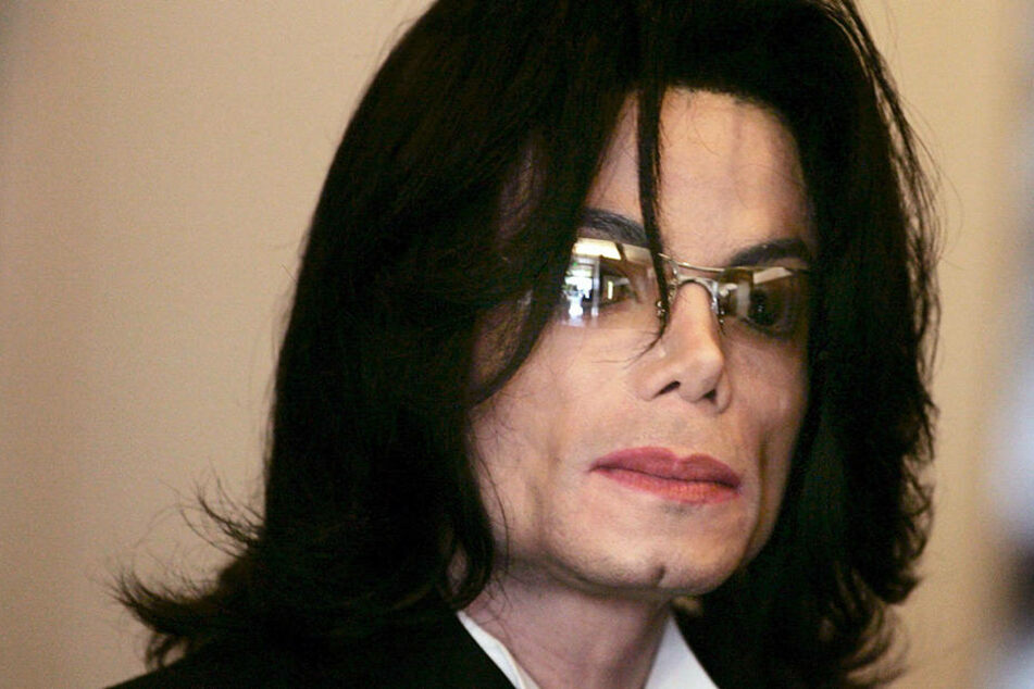 Der US-Popstar Michael Jackson am 24.05.2005 in Santa Maria (USA).