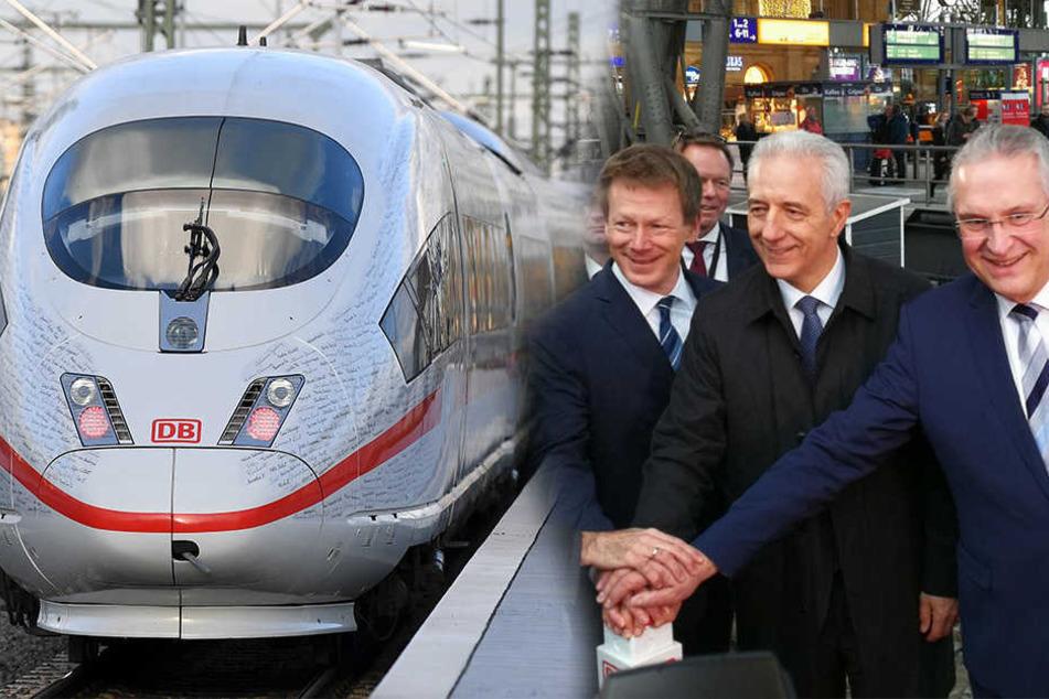 Video: ICE-Sonderzug macht auf neuer Sprinter-Strecke in Leipzig Halt