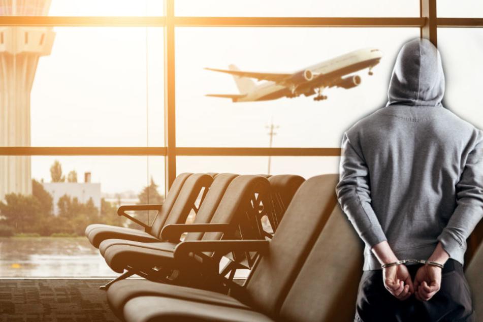 Mann sticht Flughafen-Mitarbeiter mit Cuttermesser in den Kopf
