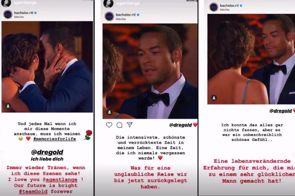 """Andrej und Jennifer erinnern sich mit Liebesbekenntnissen an ihr schönes Finale bei """"Der Bachelor 2019""""."""