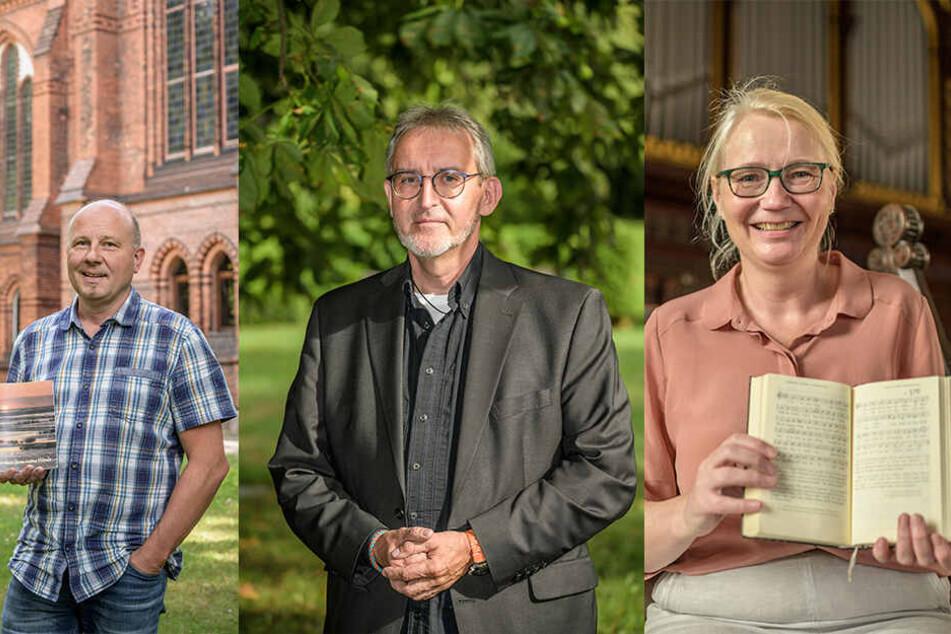 Jens Märker (53,l), Andreas Hermsdorf (54) und Claudia Scharschmidt (59).
