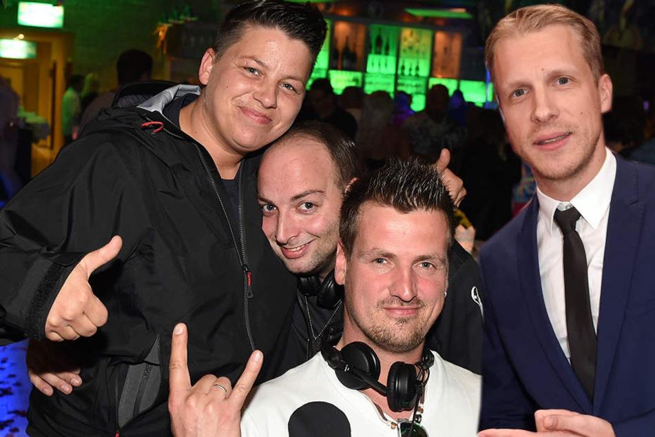 """Das DJ-Duo """"Stereoact"""" (M., mit Sängerin Kerstin Ott) und TV-Star Oliver Pocher bringen heute das """"Nova Eventis"""" zum Beben."""
