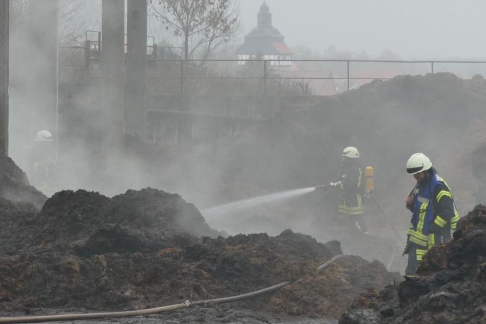 Fast schon Tradition und Routine der Feuerwehr der Einsatz auf der Anlage.
