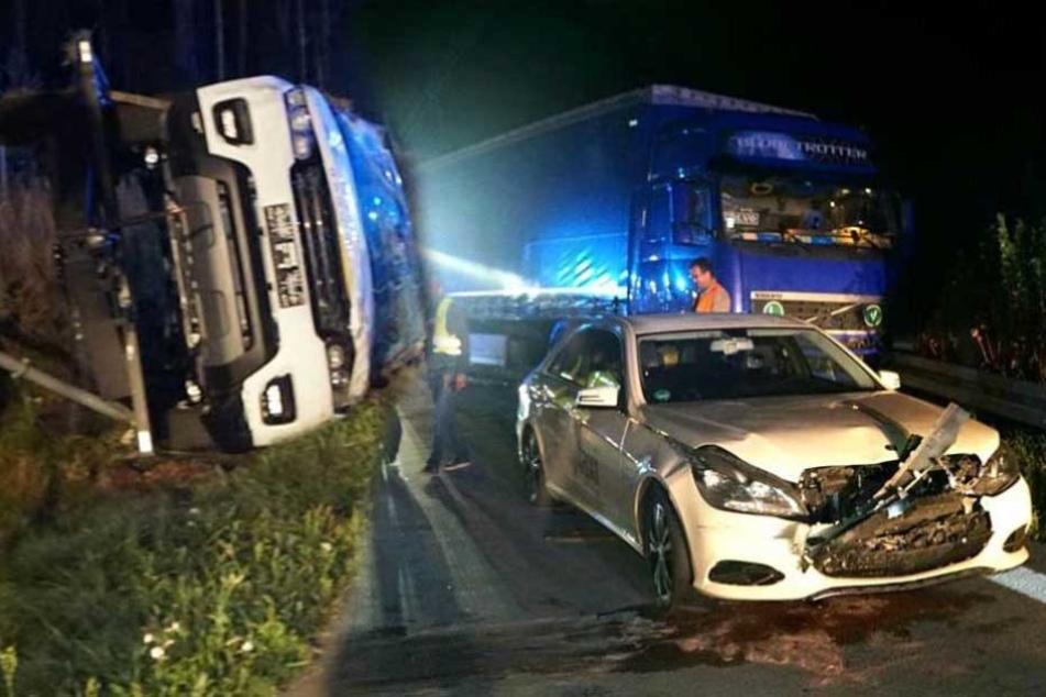 Transporter verliert Anhänger: Viele Verletzte bei Unfall auf A13
