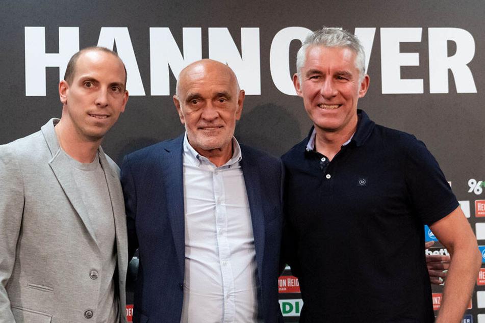 Das Trio bestehend aus Jan Schlaudraff, Martin Kind und Mirko Slomka soll Hannover 96 zurück in die Erfolgsspur führen.