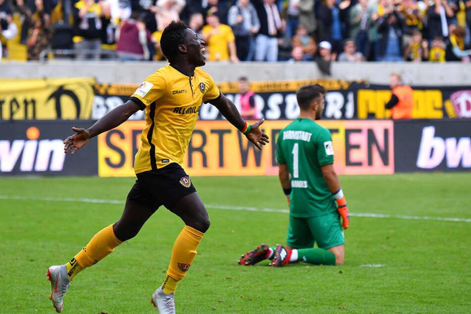 Für Dynamo-Stürmer Moussa Koné ist es mal wieder an der Zeit einzunetzen. Vielleicht schon gegen Union Berlin?