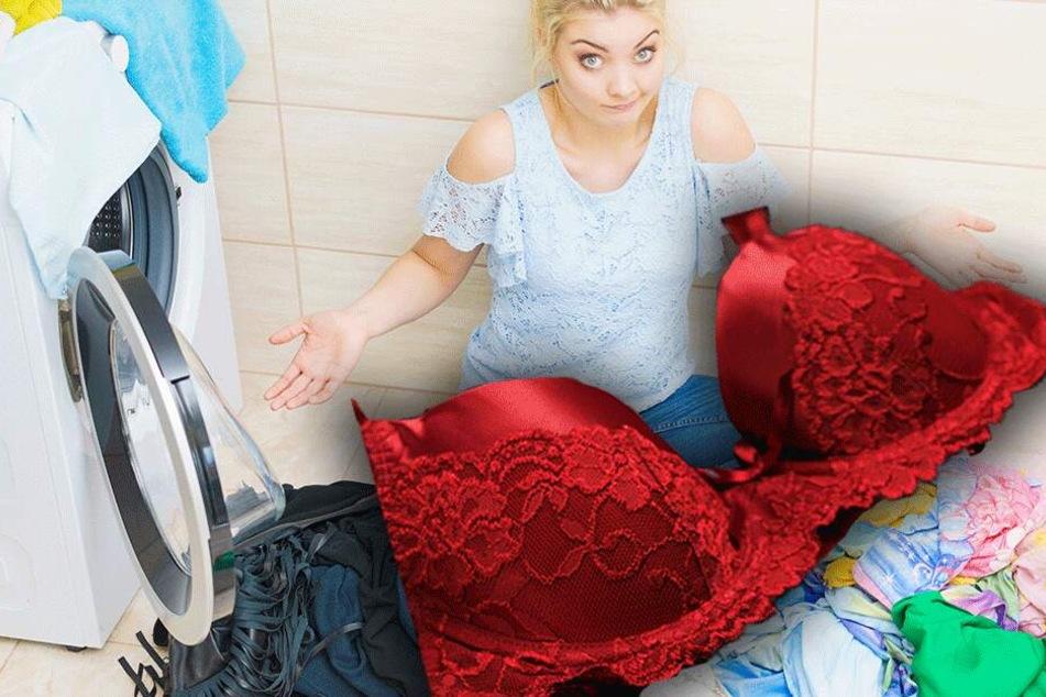 Statt mit der Waschmaschine: Mutter wäscht BHs per Hand, das Ergebnis ist ekelhaft!