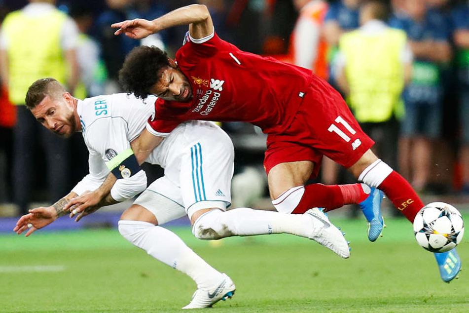 Reals Kapitän Sergio Ramos foulte Mohamed Salah so sehr, dass der ägyptische Superstar unter Tränen ausgewechselt werden musste.