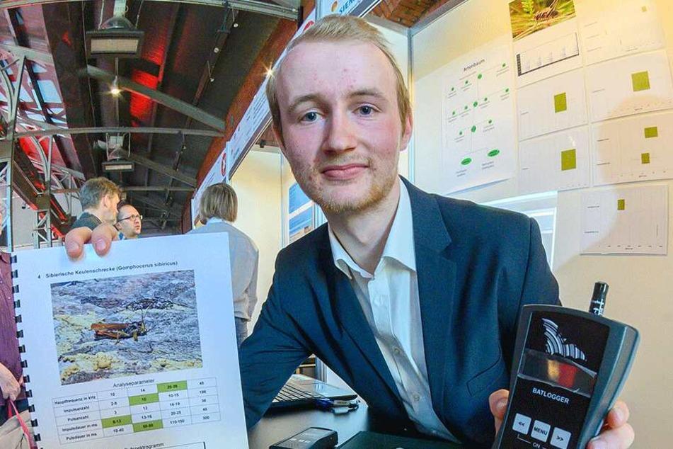 """Falco Eigner (18) vom Gymnasium Einsiedel wurde Landessieger im Fachbereich Biologie. Der Bundeswettbewerb im Mai ist für ihn ein """"Heimspiel""""."""