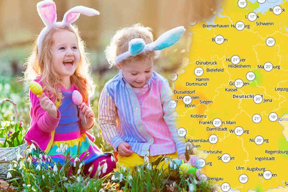 Ostern wird es angenehm warm. Perfekte Bedingungen, um Ostereier zu suchen.