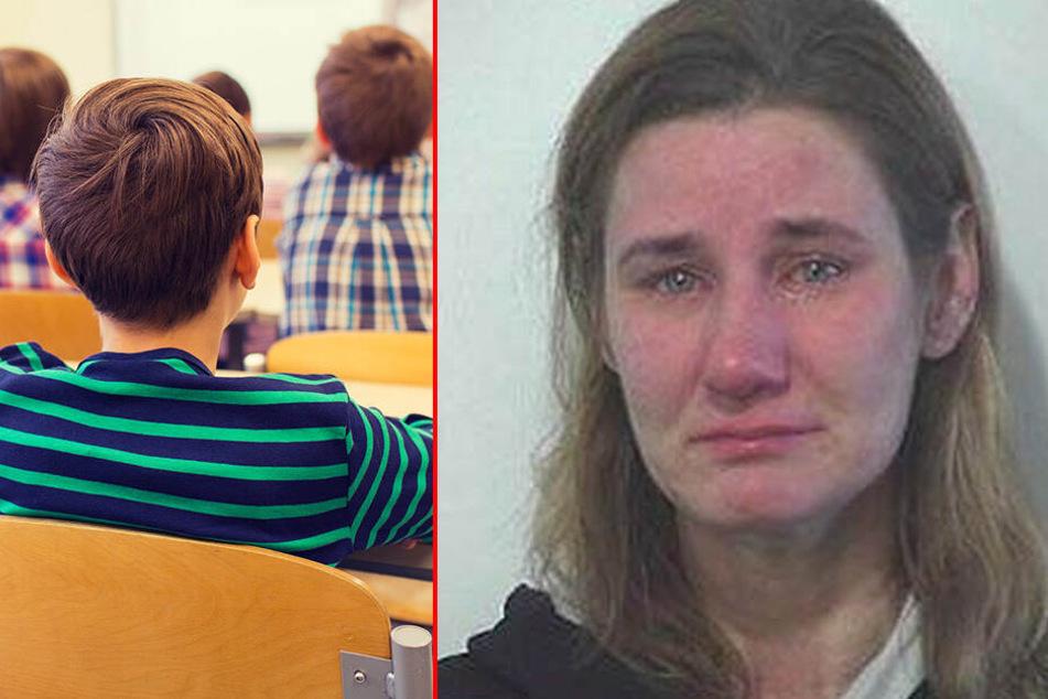 Die Sonderschullehrerin vergriff sich über mehr als 100 Mal an einem Schüler. (Bildmontage)