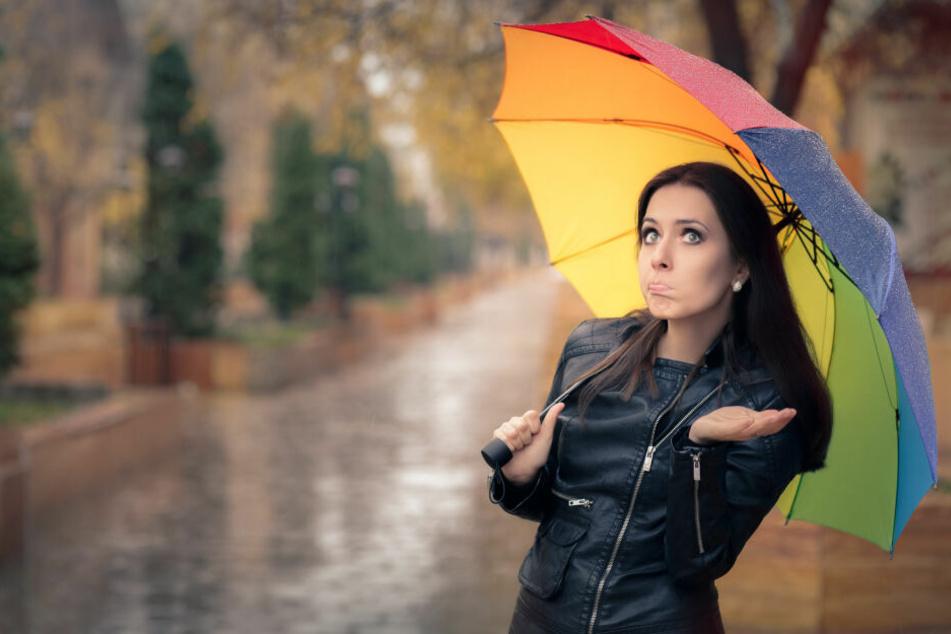 Ja, ein Regenschirm gehört in NRW in die Tasche: Laut Wetterprognose droht es, nass zu werden.