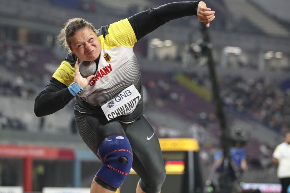 Christina Schwanitz sicherte sich bei der WM in Doha die Bronzemedaille.