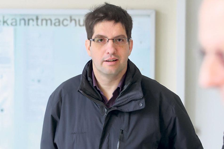 AfD-Landesvorstand Ivo Teichmann (50) stand am Dienstag wegen Körperverletzung vor Gericht.