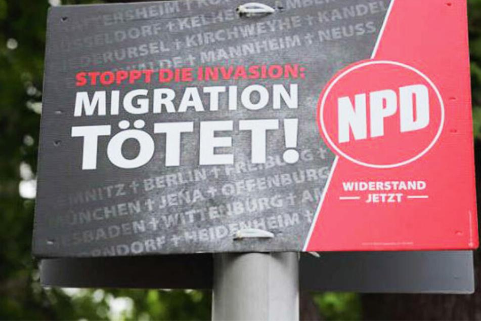 Immer wieder sorgen Wahlplakate der Partei NPD für Ärger.