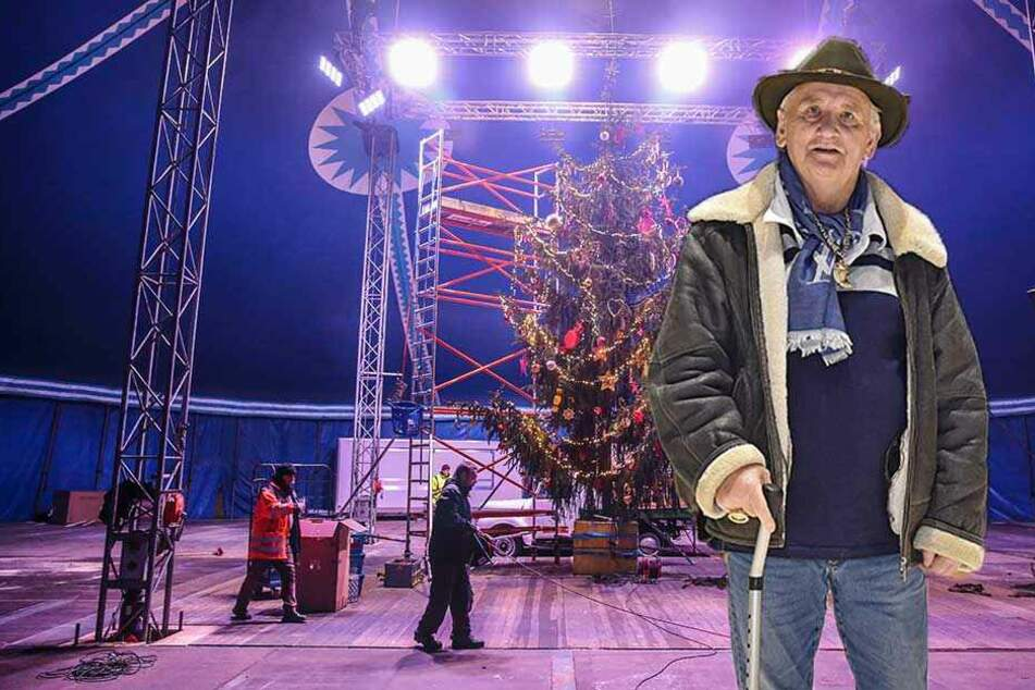 Hier bekommt der Weihnachts-Circus den letzten Schliff