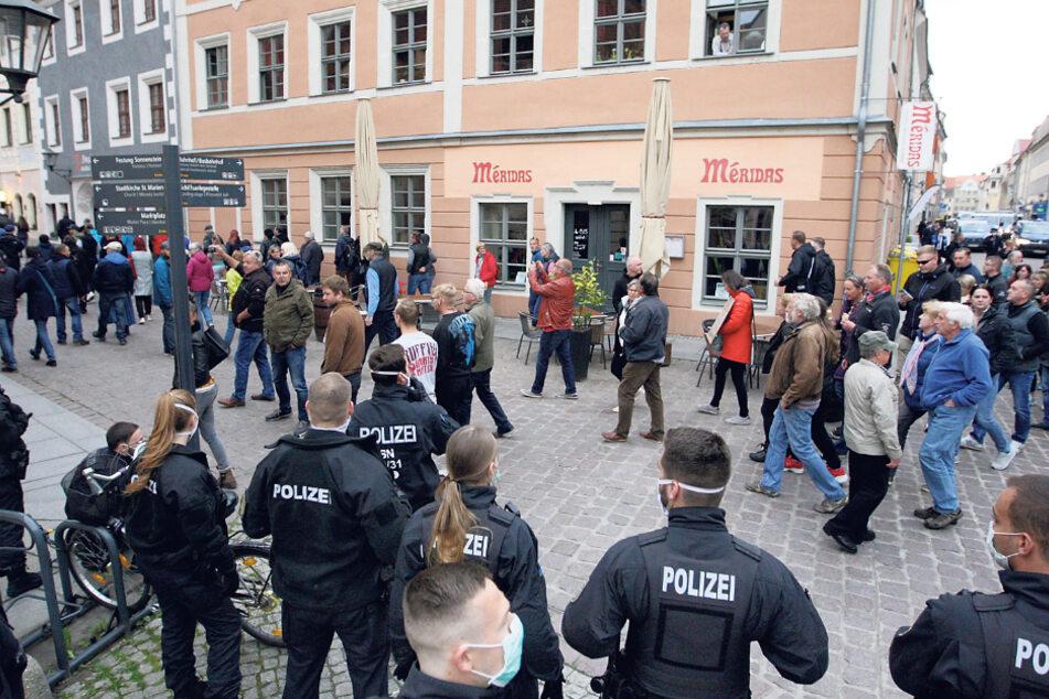 Die Demo in Pirna am 13. Mai 2020 war nicht genehmigt.