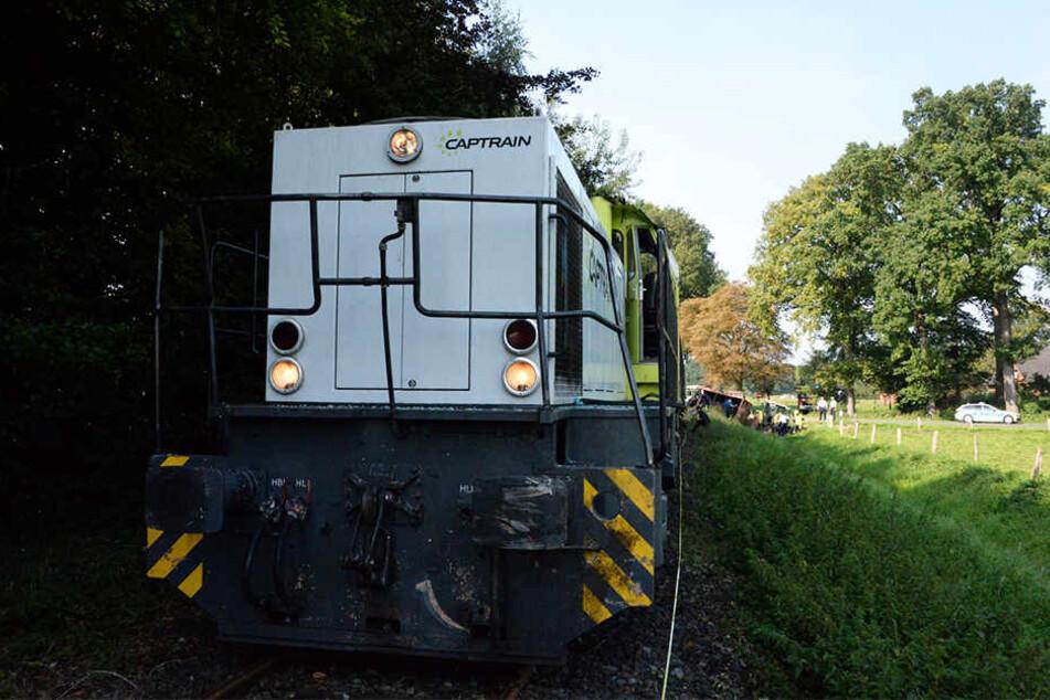 Der Fahrer des Güterzugs blieb unverletzt.