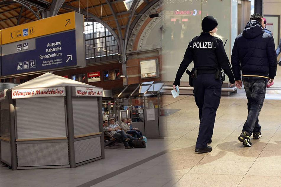 Am Kieler Hauptbahnhof griff die Bundespolizei die zwei Mädels auf.