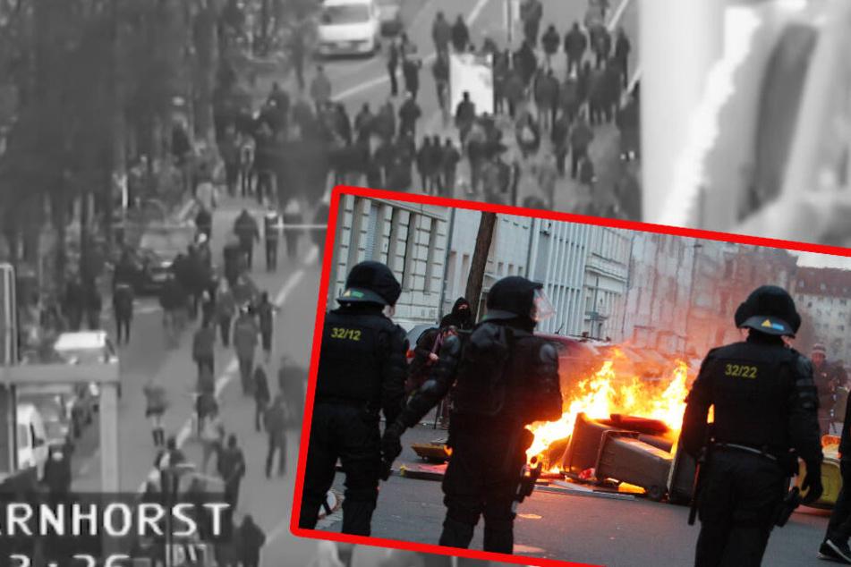 Randale in Leipzig: Interne Videos aufgetaucht! So überfordert wirkte die Polizei